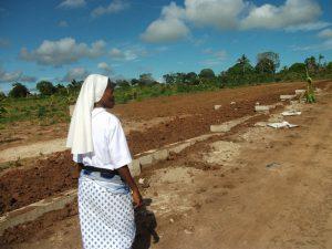 Inizio dei lavori della recinzione del terreno (marzo 2011)