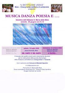 Giugno 2008 - Musica danza poesia e...