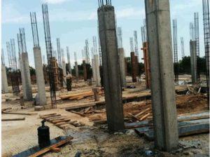 Costruzione del piano terra dell'edifico scolastico (novembre 2018)
